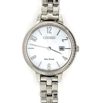 Citizen Watch, Grey Dial With Time And Date, Eco Drive Technology