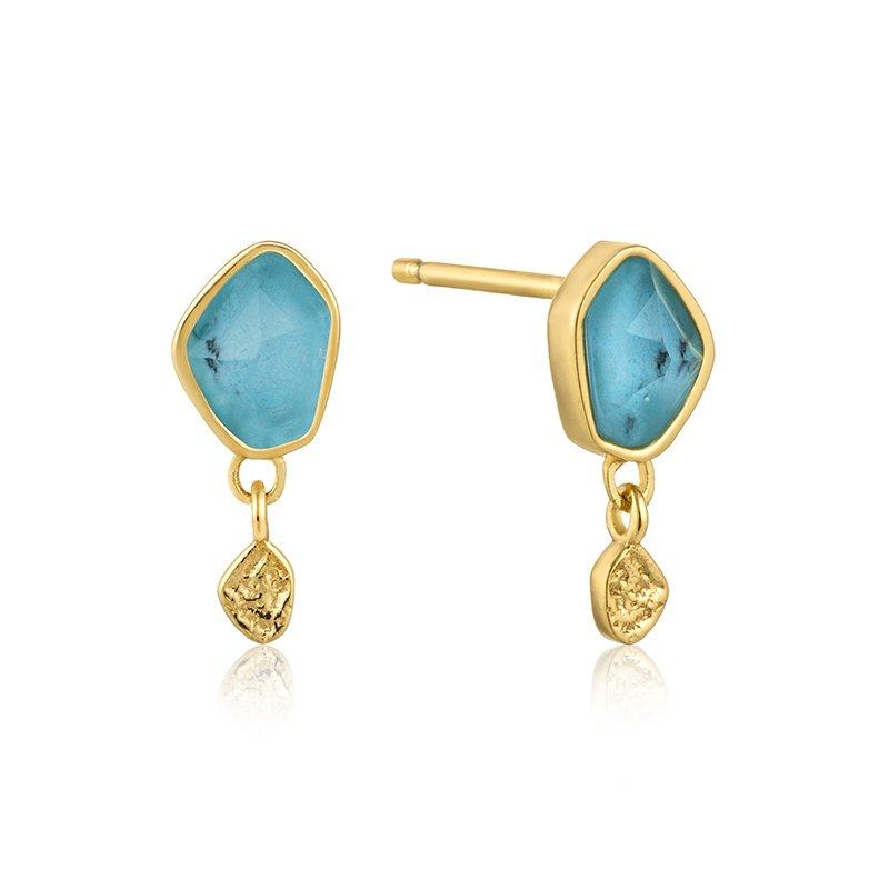 Ania Haie Turquoise Drop Stud Earrings
