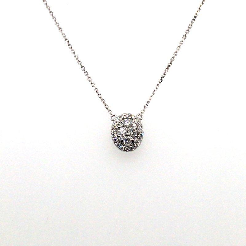 Gems One Diamond Oval Pendant With Halo
