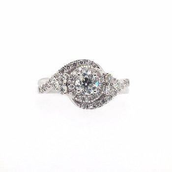 Round Diamonds and Halo Ring
