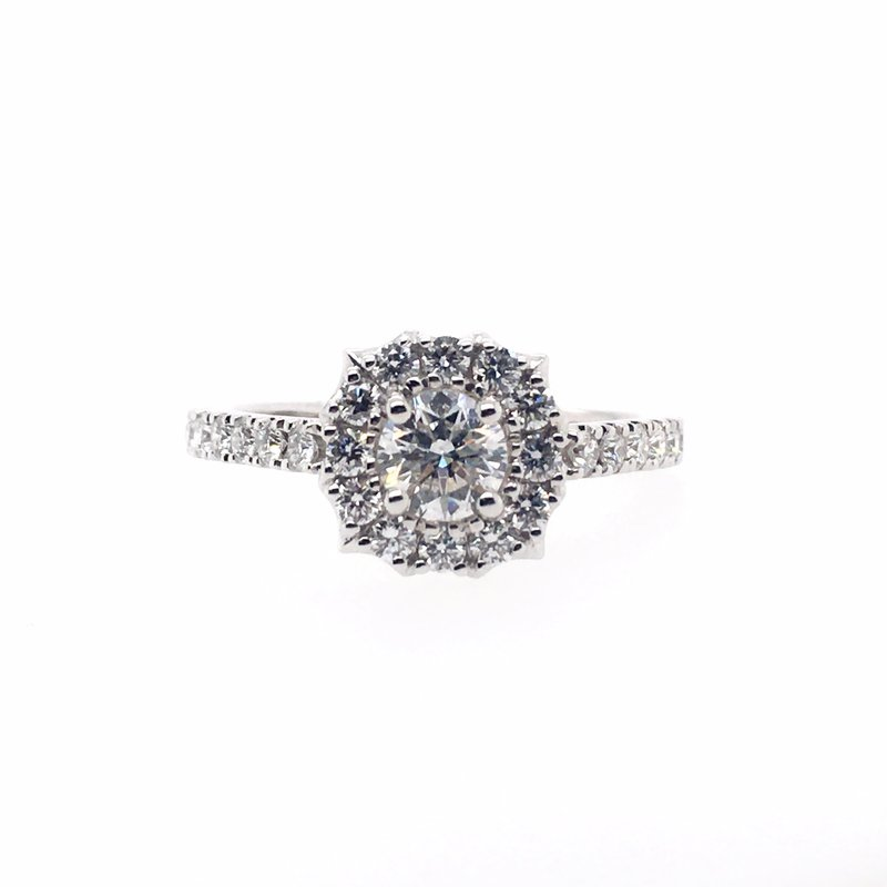 Kim International Pointed Halo with Round Center Ring