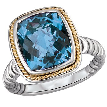 Eleganza Ladies Blue Topaz Ring