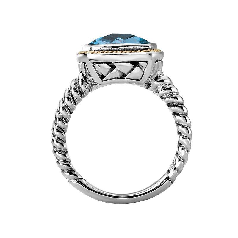 Kim International Eleganza Ladies Blue Topaz Ring