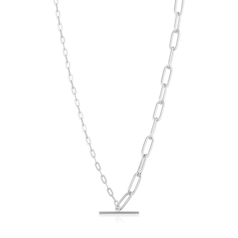Ania Haie Mixed Link T-Bar Necklace