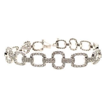 Diamond Open Link Tennis Bracelet