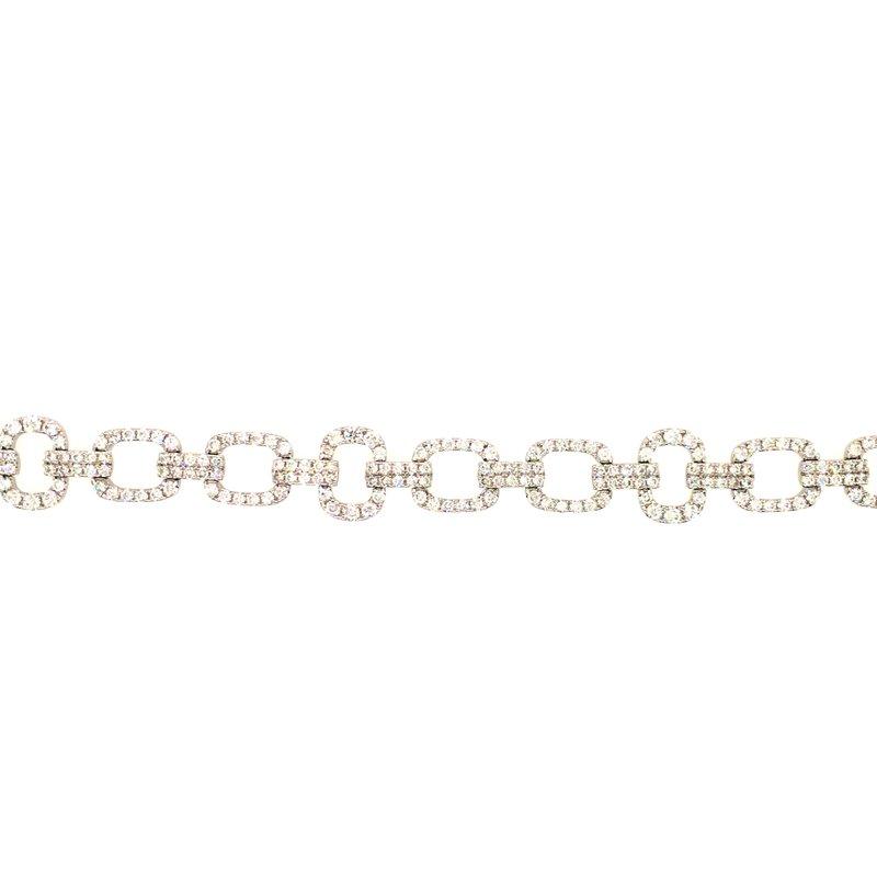 Variety Gem Diamond Open Link Tennis Bracelet