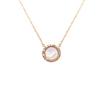 Diamond & Mother of Pearl Pendant