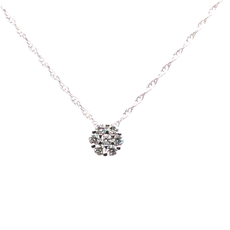 Gems One Diamond Cluster Pendant