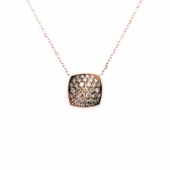 Levian Adjustable Necklace With Chocolate Ombré Diamonds®, Vanilla Diamonds®