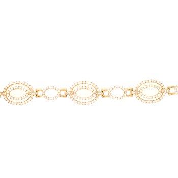 Diamond Oval Link Tennis Bracelet