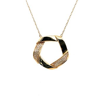 Diamond Contemporary Circle Pendantt