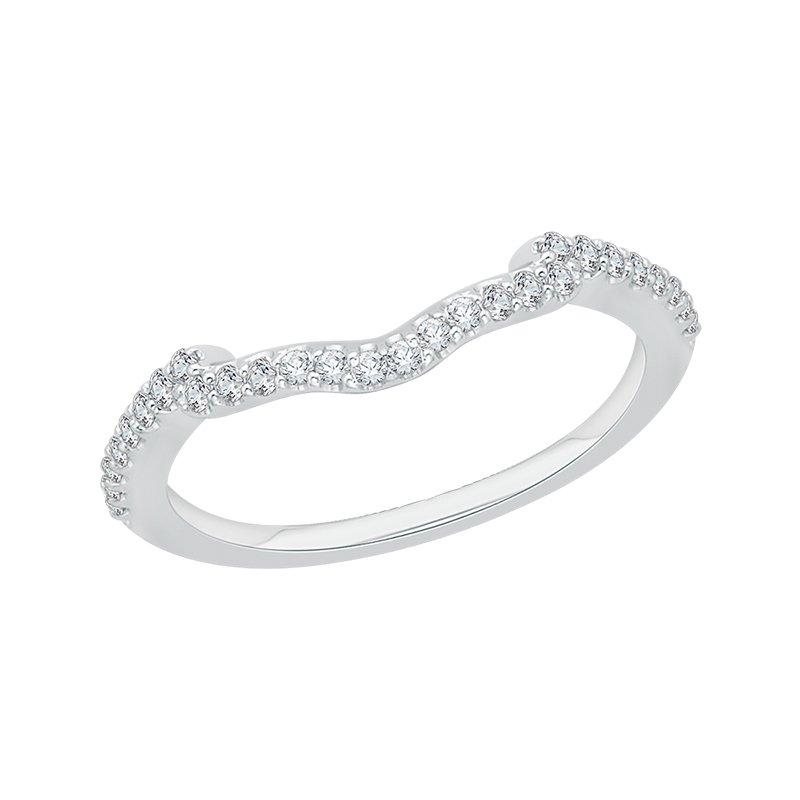 Shay Promezza 14 Karat White Gold Round Diamond Wedding Band