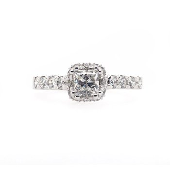 Halo with Princess Cut Center Ring