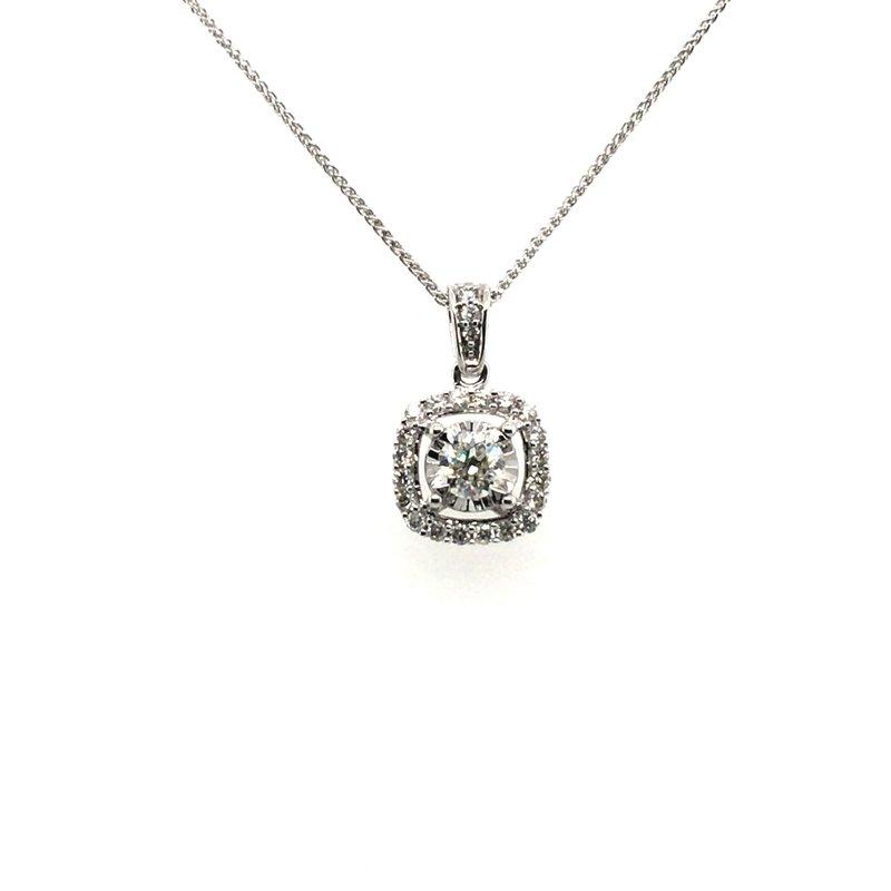 Gems One Diamond Pendant With Cushion Halo