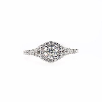 Halo with Split Shank Center Ring