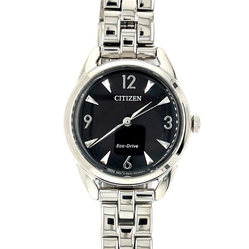 Citizen Citizen Watch, Black Dial With Silver Hands And Numbers, Eco Drive Technology