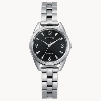 Citizen Watch, Black Dial With Silver Hands And Numbers, Eco Drive Technology