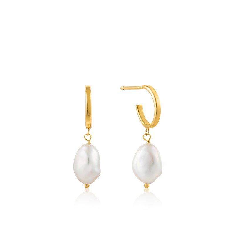 Ania Haie Pearl Mini Hoop Earrings