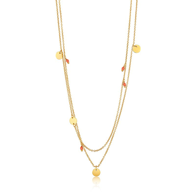 Ania Haie Dotted Double Necklace