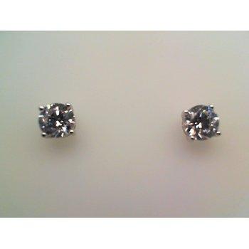 Simulated Diamond Round Stud Earrings