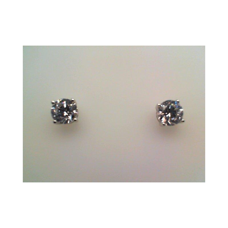 LaFonn Simulated Diamond Round Stud Earrings