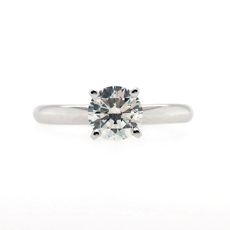 Gems One Lab Grown Round Diamond Solitaire Engagement Ring