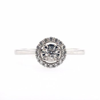 True Reflections Diamond and Halo Ring