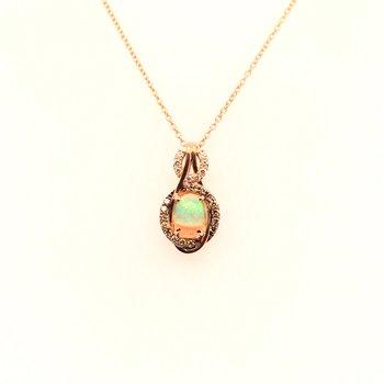 Levian Diamonds & Neopolitan Opal Pendant