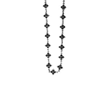 MB Cross Necklace with Black Cubic Zirconia