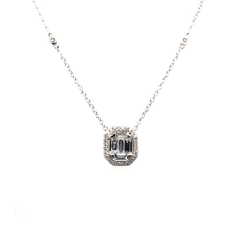 Gems One Baguette and Round Cut Diamond Pendant
