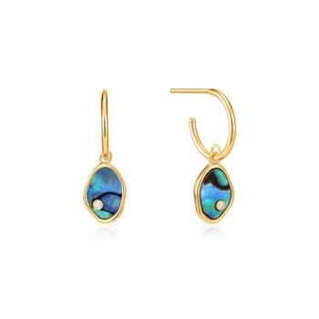 Turning Tides Tidal Abalone Mini Hoop Earrings