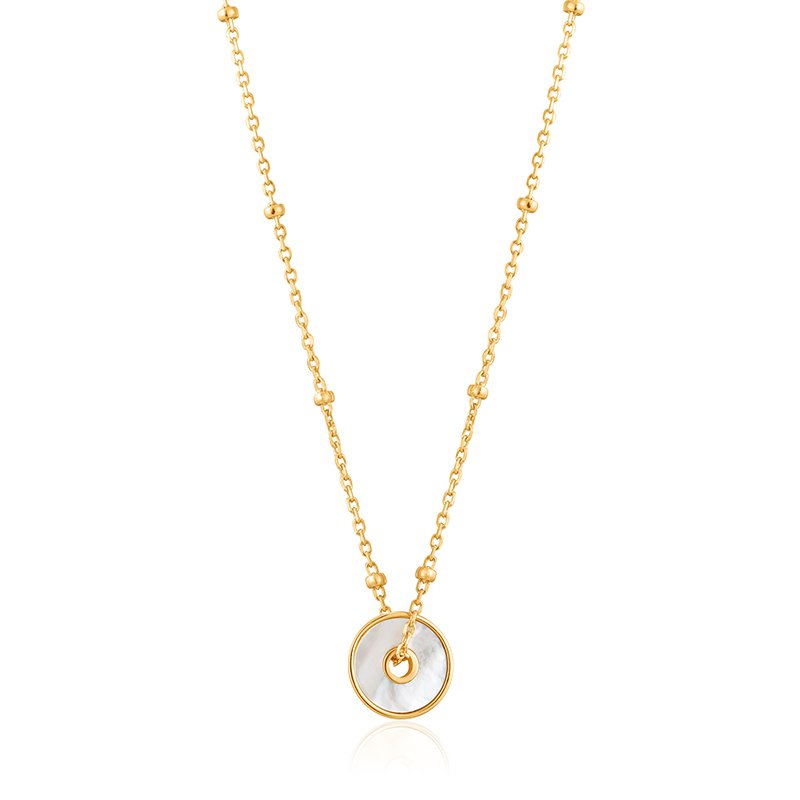Ania Haie Mother Of Pearl Disc Necklace