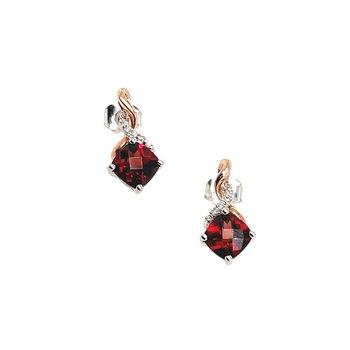 Cushion Cut Garnet Earrings