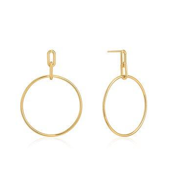 Cable Link Hoop Earrings