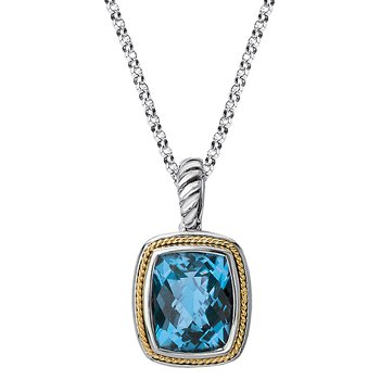 Eleganza Ladies Blue Topaz Pendant
