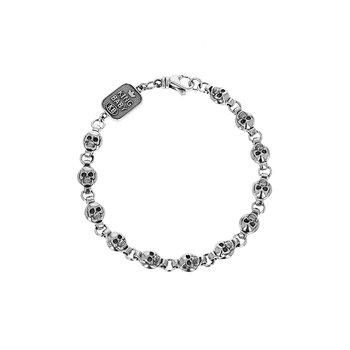 Round Skull Chain Bracelet