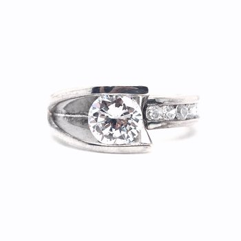 Frank Reubel Designer Bridal Semi-Mounting Center Band Ring