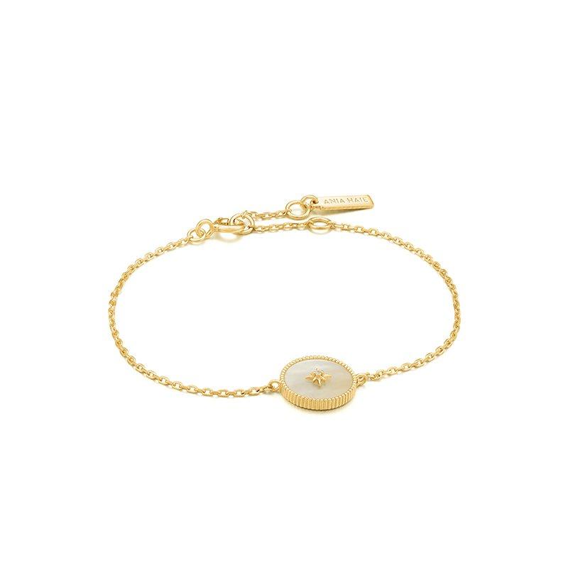 Ania Haie Mother Of Pearl Emblem Bracelet