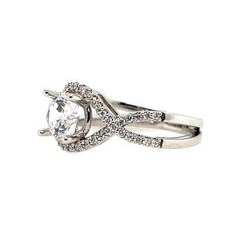 Romance Semi-Mounting Split Shank Center Ring