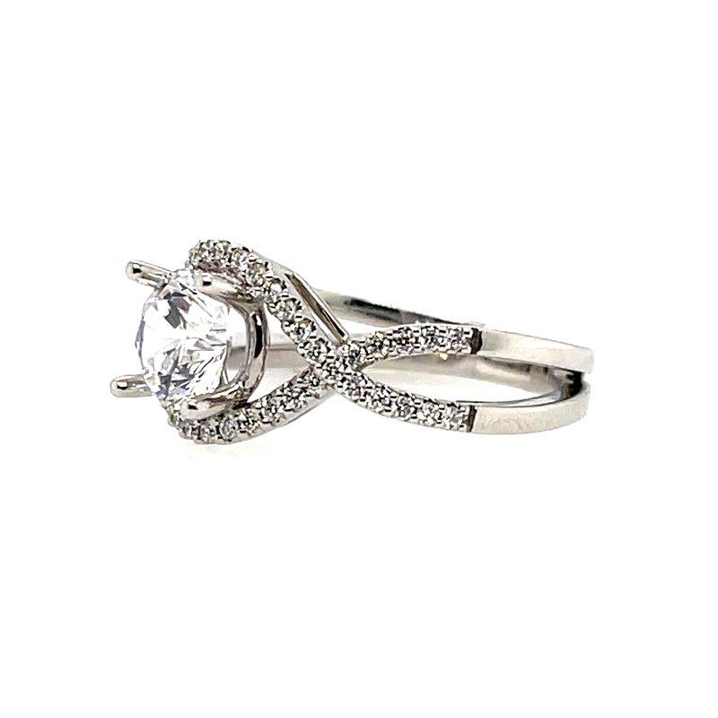 Kim International Romance Semi-Mounting Split Shank Center Ring