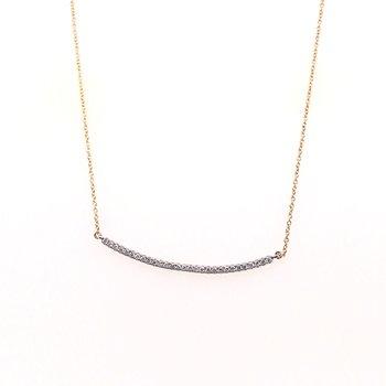 Round Diamond Bar Necklace