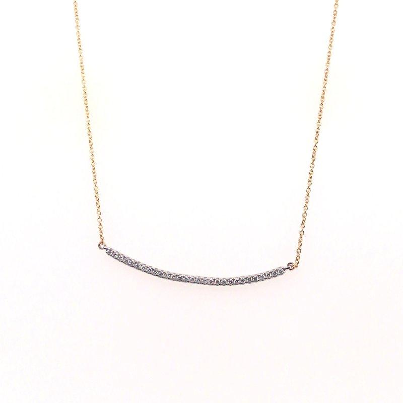 Variety Gem Round Diamond Bar Necklace