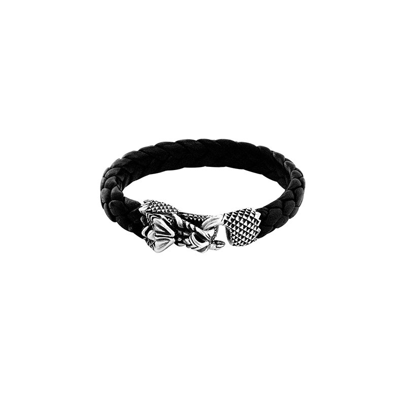 King Baby Leather Bracelet With Small Dragon Clasp