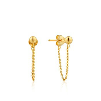 Modern Chain Stud Earrings