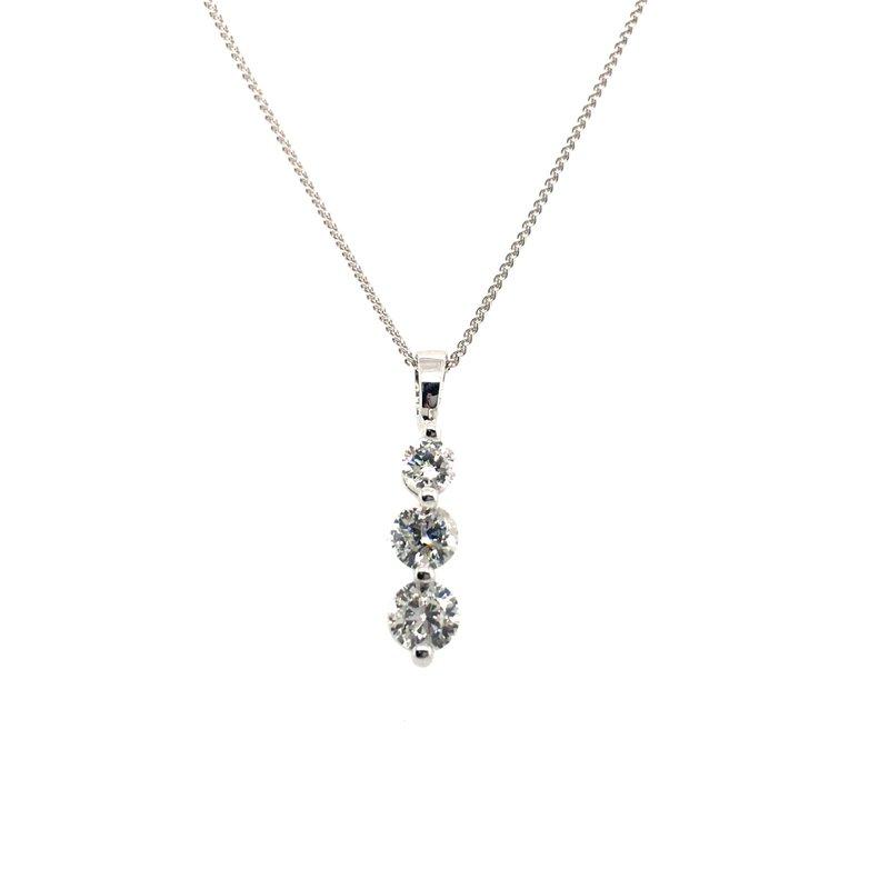 Gems One Three Stone Diamond Pendant