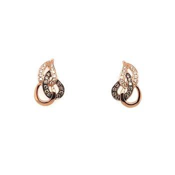 Levian Rose Gold Diamond Earrings