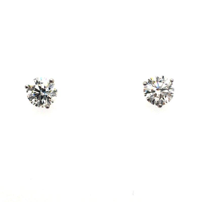 Gems One Lab Grown Round Martini Diamond Stud Earrings
