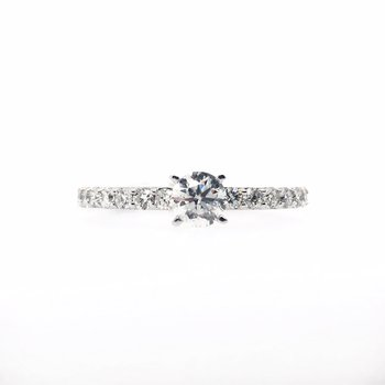 Diamond Band with Round Center Ring