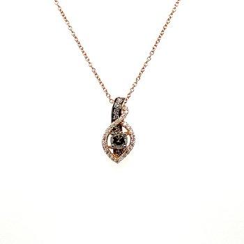 Levian Rose Gold Diamond Pendant