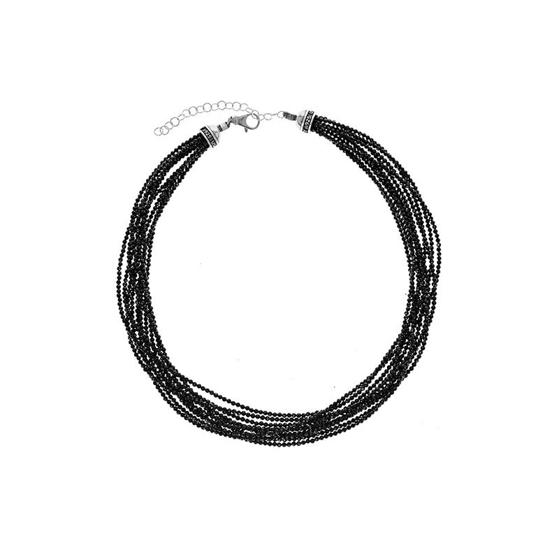 King Baby 2.5mm Ten Strand Black Spinel Bead Necklace